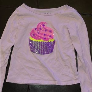 Might purple cupcake shirt